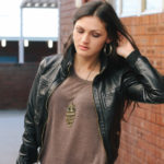 Brown & Black – Leather Look Jacket