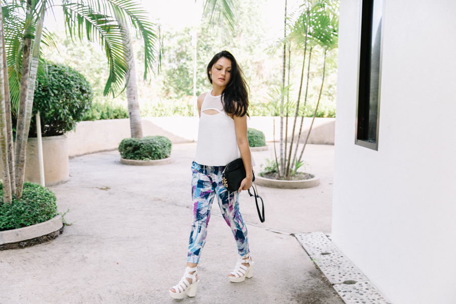 Thai fashion blogger tropical style outfit editorial.