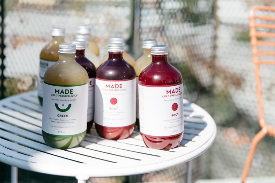 Made Cold-Pressed Juice in Perth.