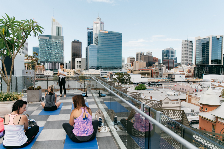 Bendy Breakfast Perth. A yoga class & breakfast afterwards in Perth, Western Australia.