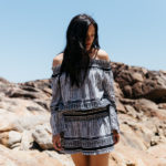 Getting Away From It All (Including Excess Fabric) In An Off The Shoulder Dress