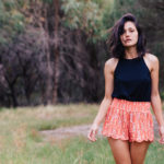 Dazed & Confused – Coral Scalloped Shorts
