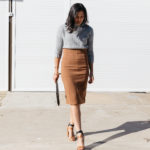 Why You Need A Brown Pencil Skirt