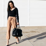 Brown Culottes In Grey Weather