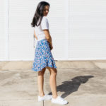 The Leopard Who Changed Its Spots – Blue Leopard Print Skirt