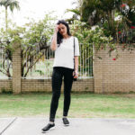 A Simple Black Sneakers Outfit